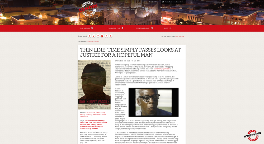 ARTSWFL: The Making of  'Time Simply Passes.' April 16, 2016.