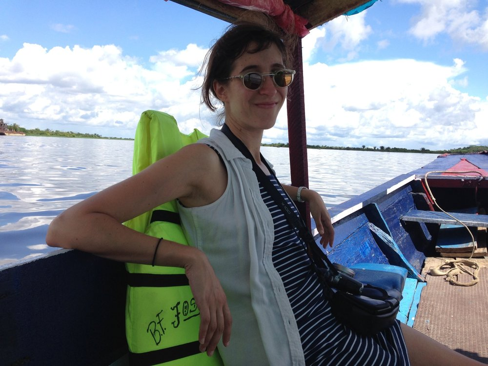 My partner EB, a filmmaker and educator (Iquitos, Peru, 2015)