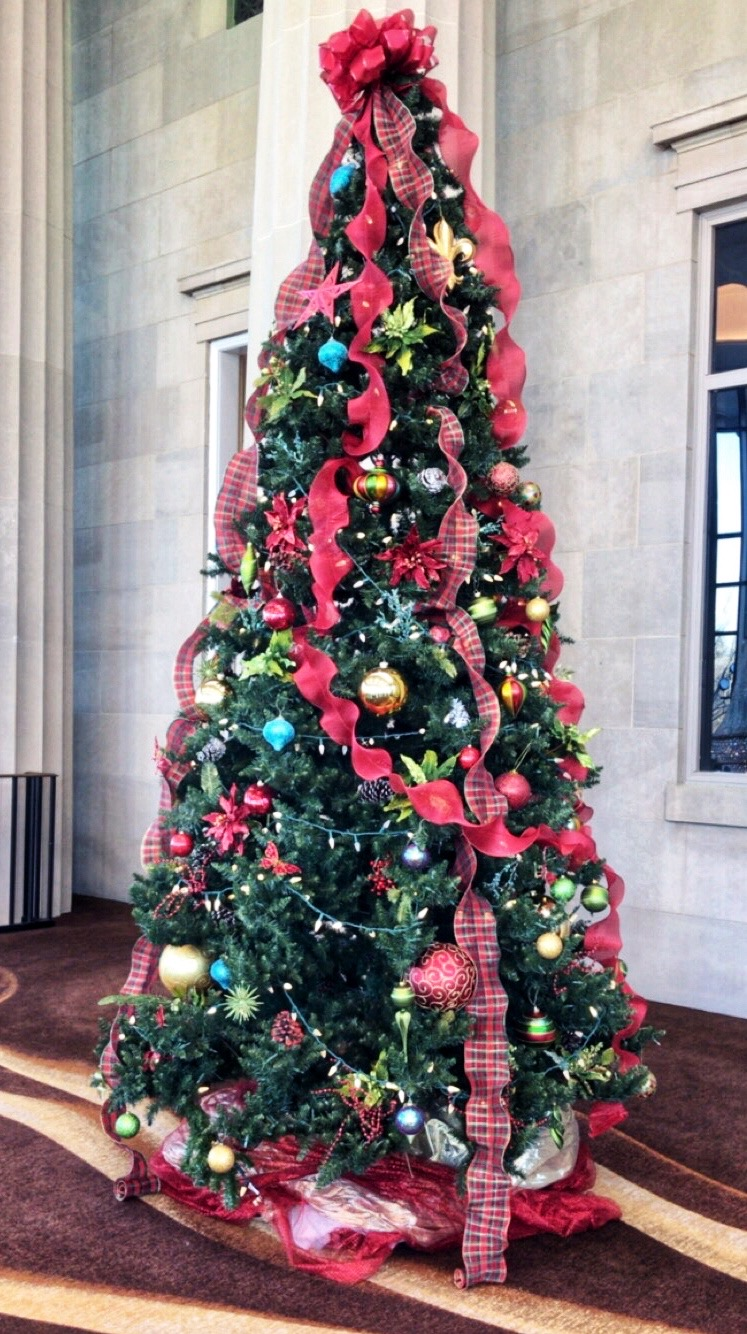 Christmas tree at the Duke Energy Center for the Performing Arts - Raleigh, NC