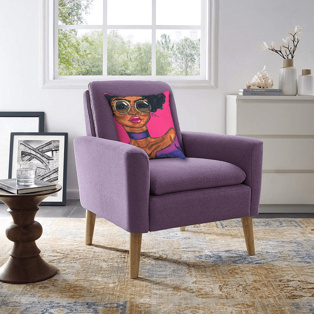 Magic Accent Pillow  by Ayanna Ali with  Lohoms Comfy Upholstered Arm Chair