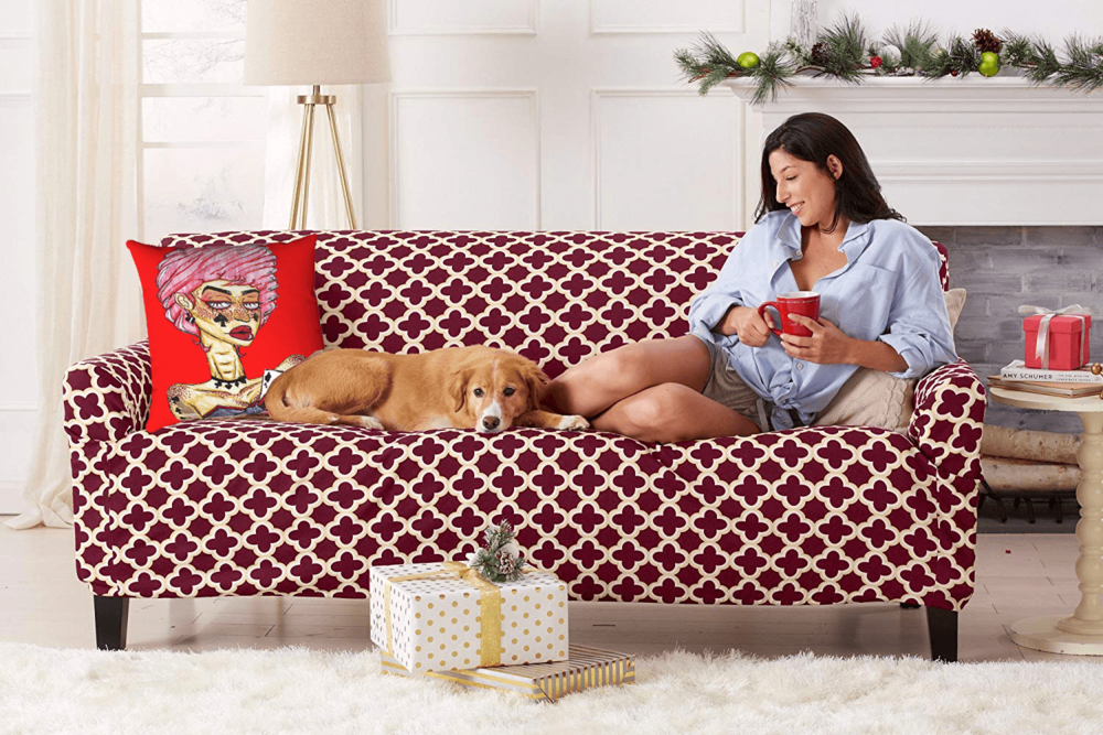 Cards Accent Pillow  by Ayanna Ali with  Home Fashion Designs Twill Form Fit, Slip Resistant, Stylish Furniture Cover