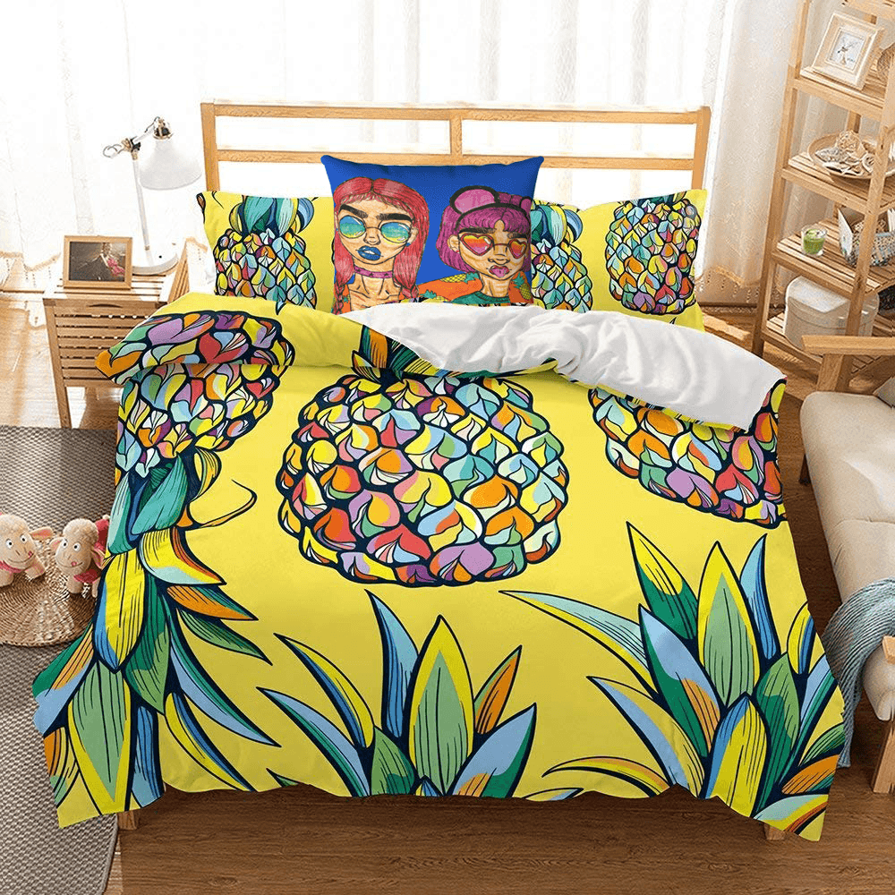 Shades Accent Pillow  by Ayanna Ali with  helengili Pineapple Ananas Bedding Set