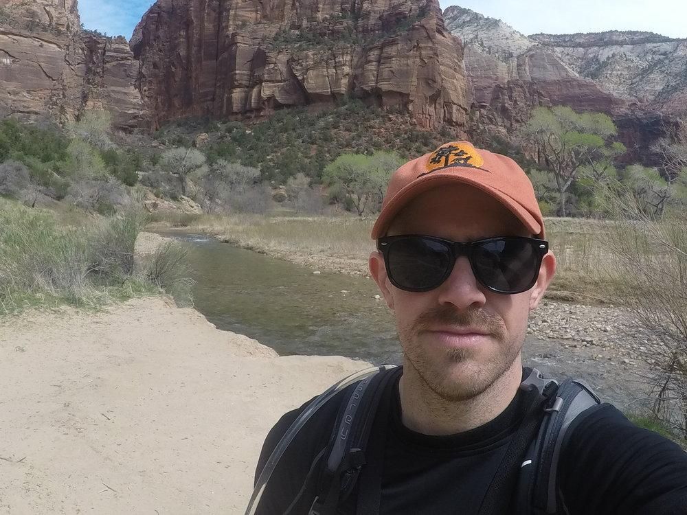 Zion River Selfie.JPG