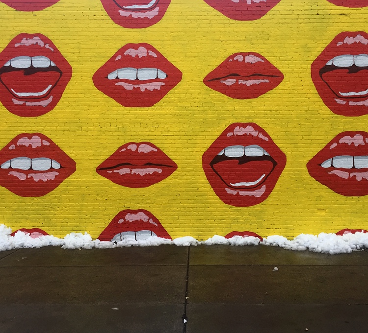 Lip Service Mural Elmwood Village | Best Instagram-Worthy Murals & Street Art in Buffalo, NY | Emily Malkowski