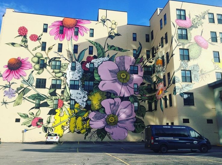 Wildflowers for Buffalo Washington Street | Best Instagram-Worthy Murals & Street Art in Buffalo, NY | Emily Malkowski