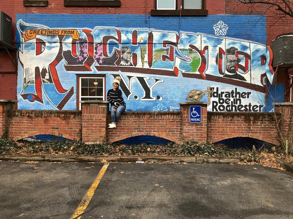 Greetings from Rochester Mural | Rochester Murals | Emily Malkowski Blog