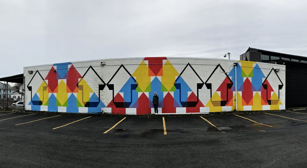 Arrows Mural | Best Murals in Rochester, NY | Emily Malkowski Blog