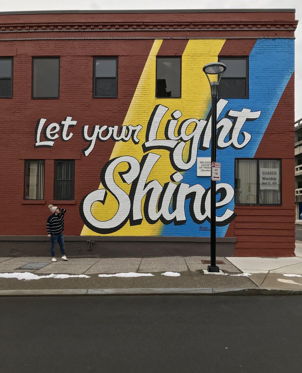 Let Your Light Shine Mural | Best Murals in Rochester, NY | Emily Malkowski Blog