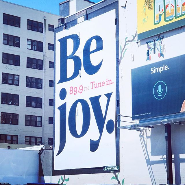 The universe sends love notes. #bejoy