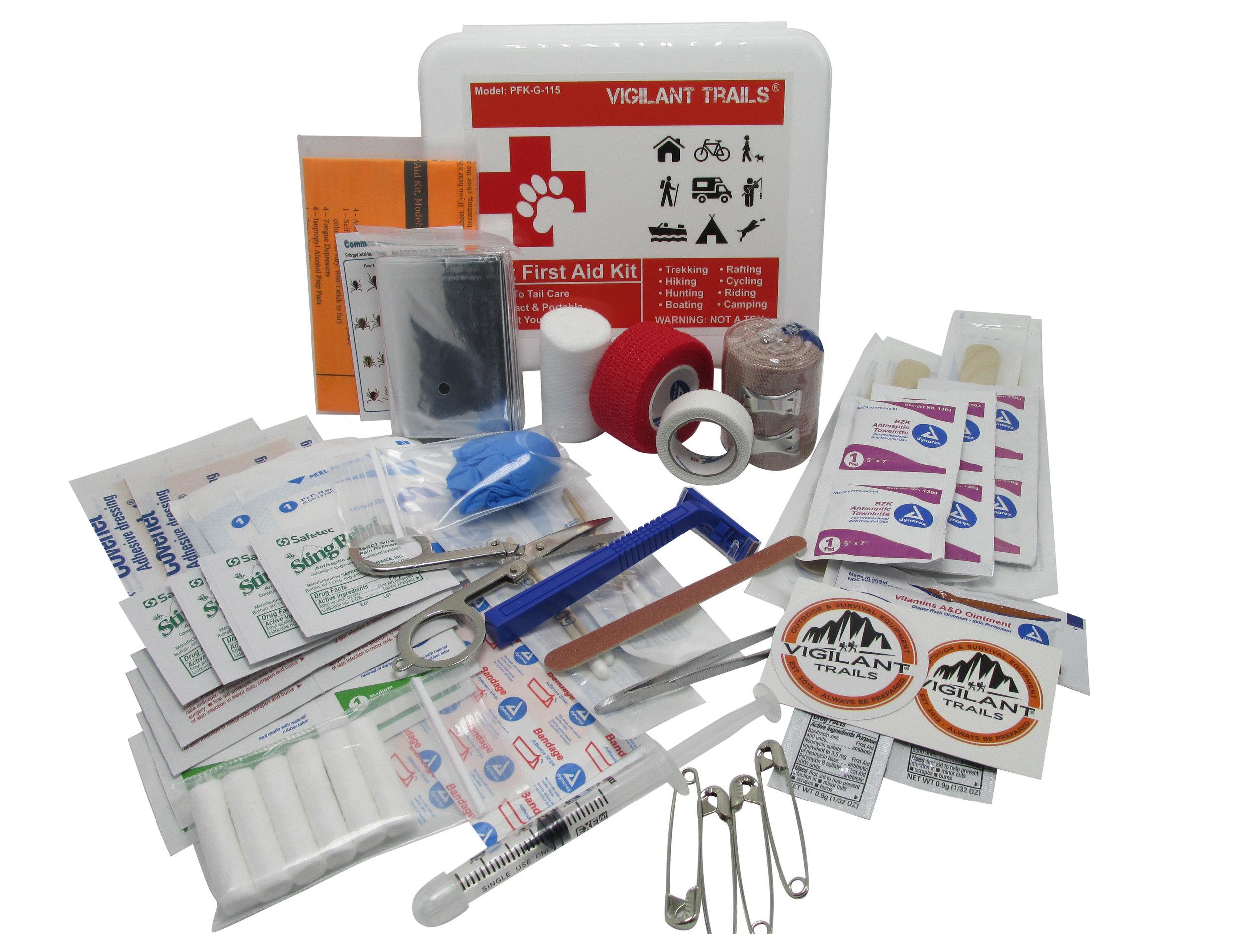 Vigilant Trails® Pet First Aid Kit To-Go | Nose to Tail Care — Vigilant  Trails