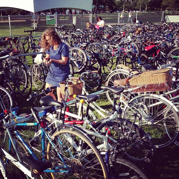 Bike parking at Interstellar Rodeo in Hawrelak Park