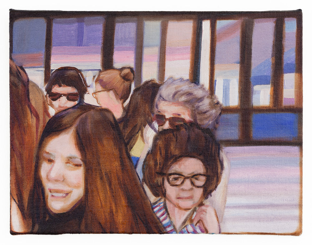 Departure , Oil on linen board, 15 x 20 cm, 2015. Photograph courtesy of Taryn Ellis