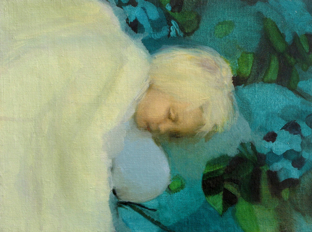 The Big Sleep , Oil on linen board, 22x28cm, 2006