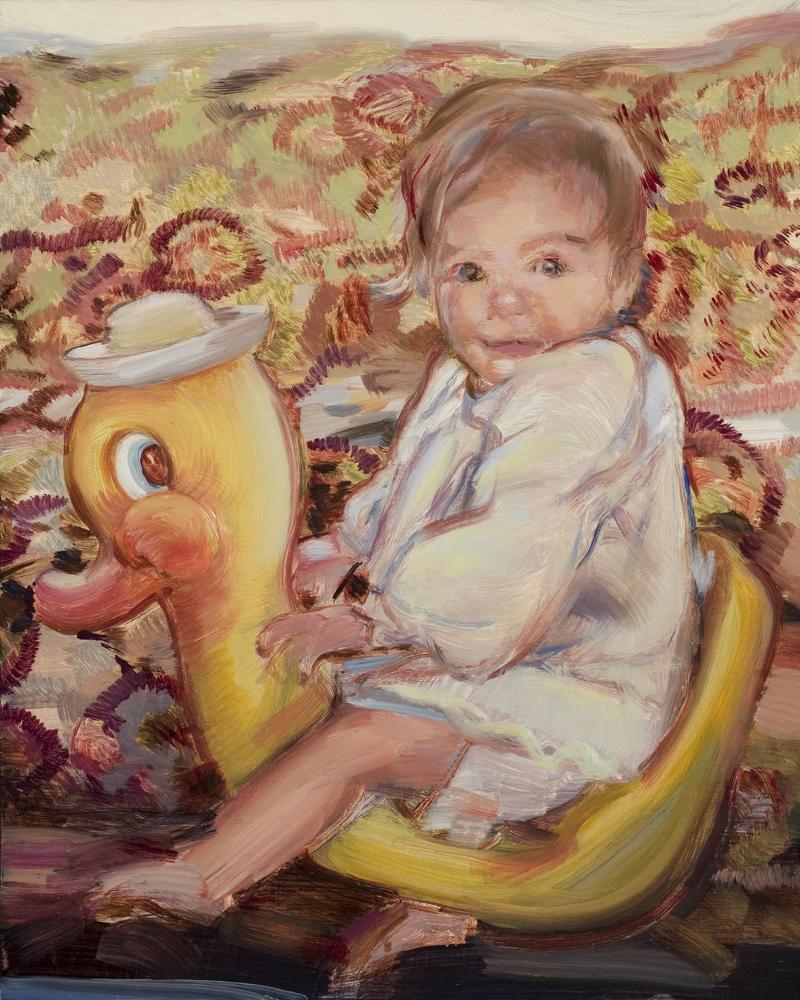 Duckling , Oil on board, 23 x 20cm, 2009