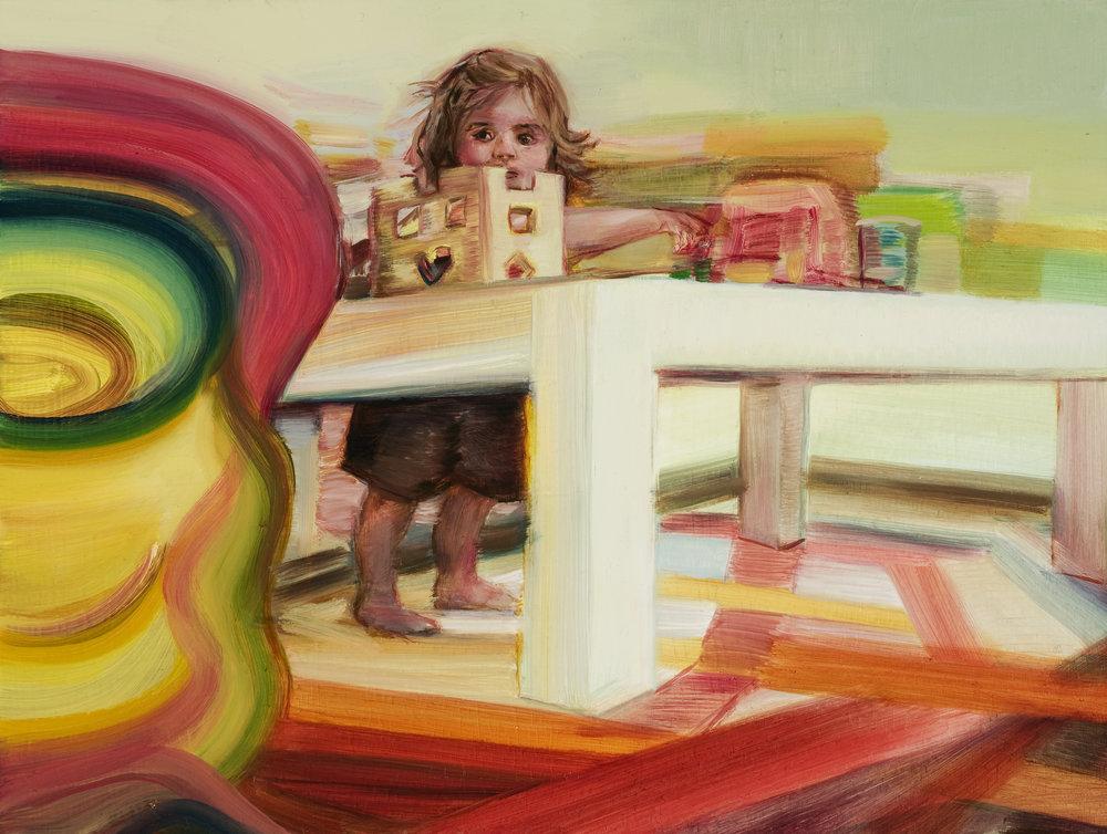 Playground , Oil on board, 24 x 36cm, 2009