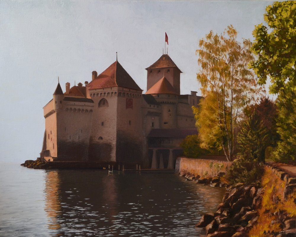 Castle by the lake