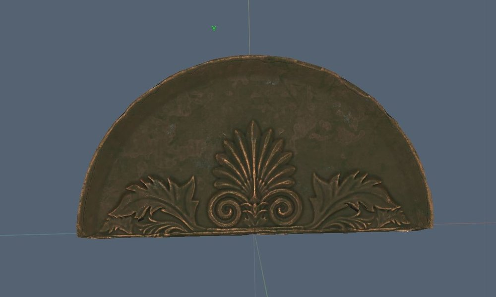 3d Coat Sculpt stage 01 - Above Center Library Door