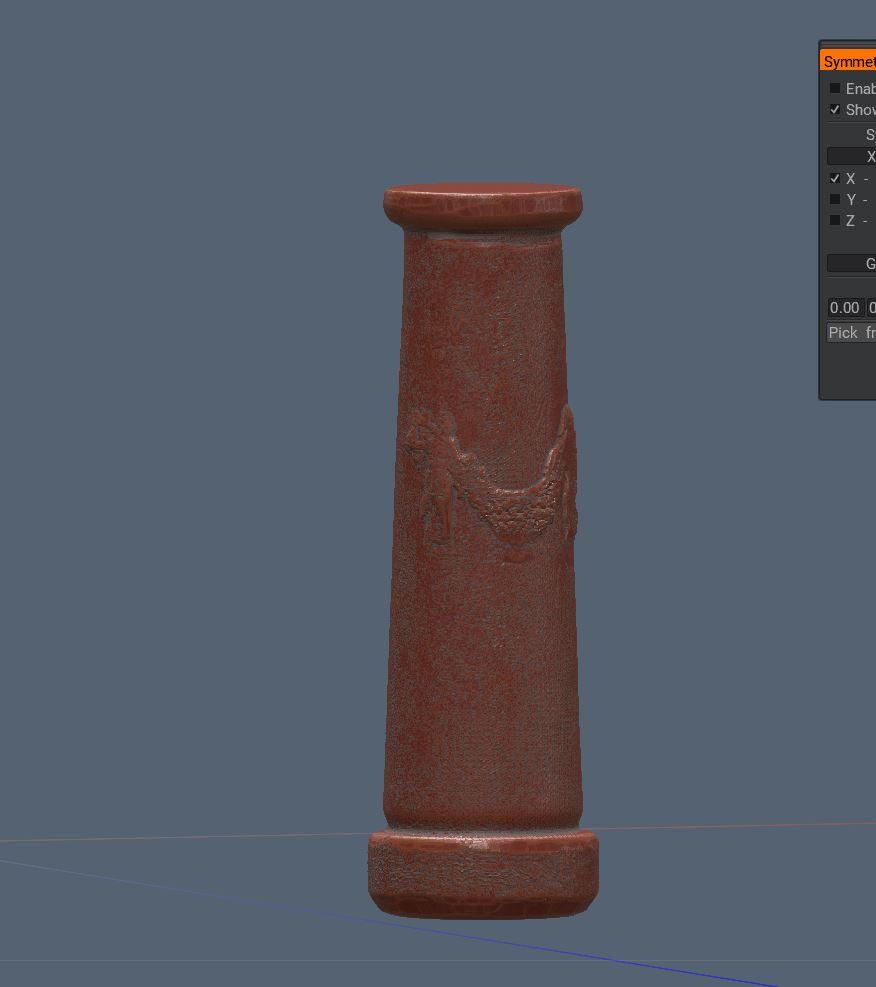 3d Coat Sculpt stage 01 - Column by door