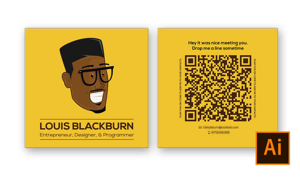 Avatar business card design louis blackburn business cards these personal business cards feature an avatar on the front and a large reheart Choice Image