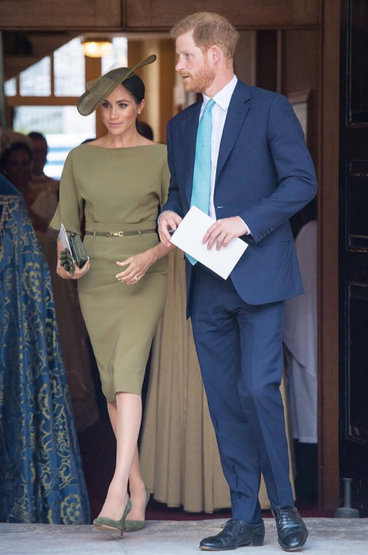 online store 1a655 5ea5b The Duchess steps out in Ralph Lauren for Louis' christening ...