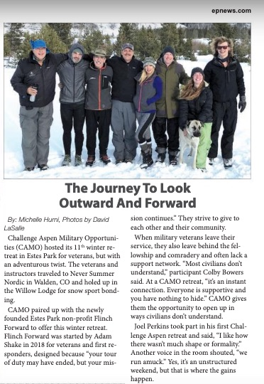 Article excerpt by Michelle Hurni for the Estes Park News.