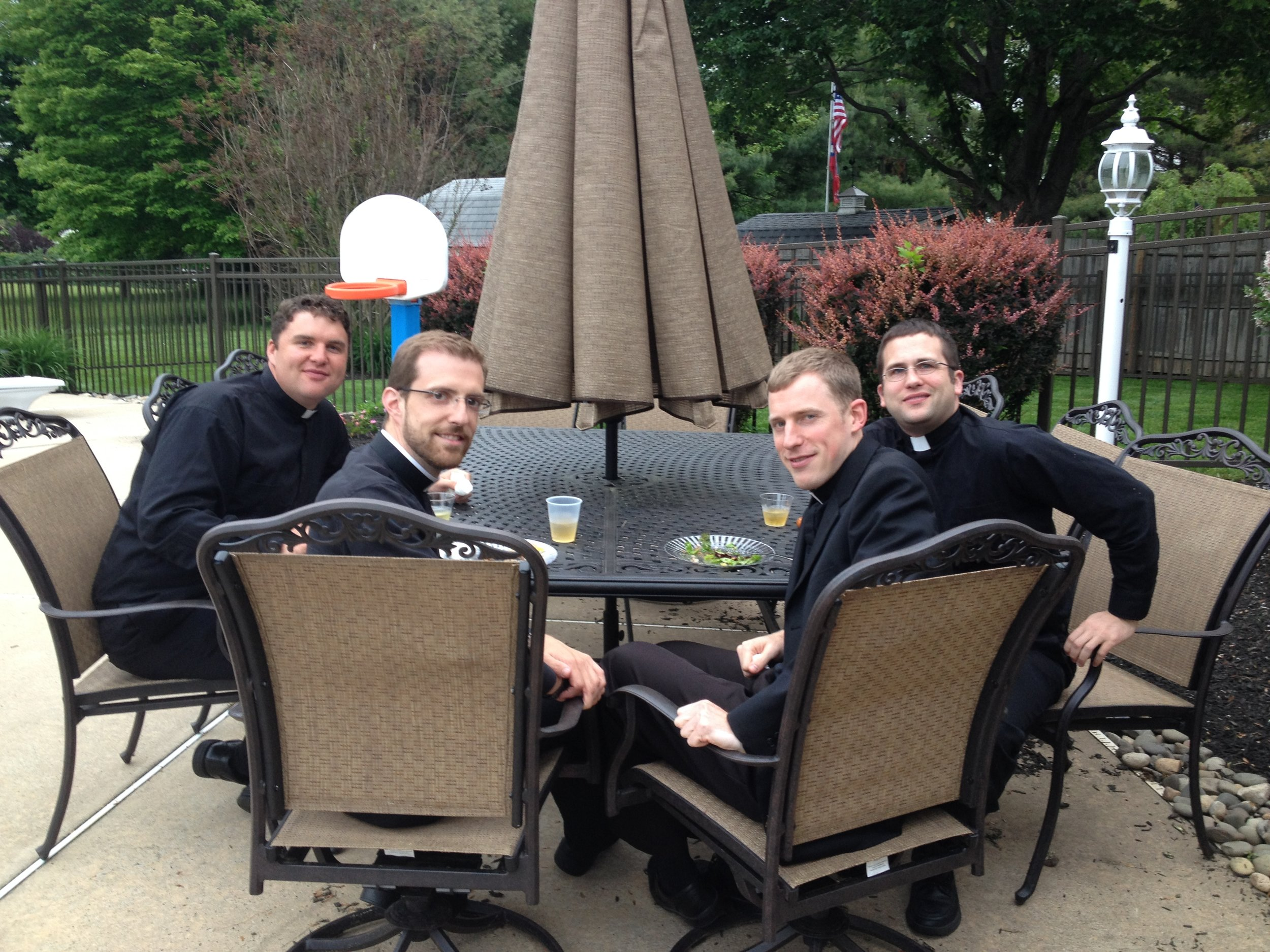 Men of God. Our four wonderful priests from the Duluth Diocese!