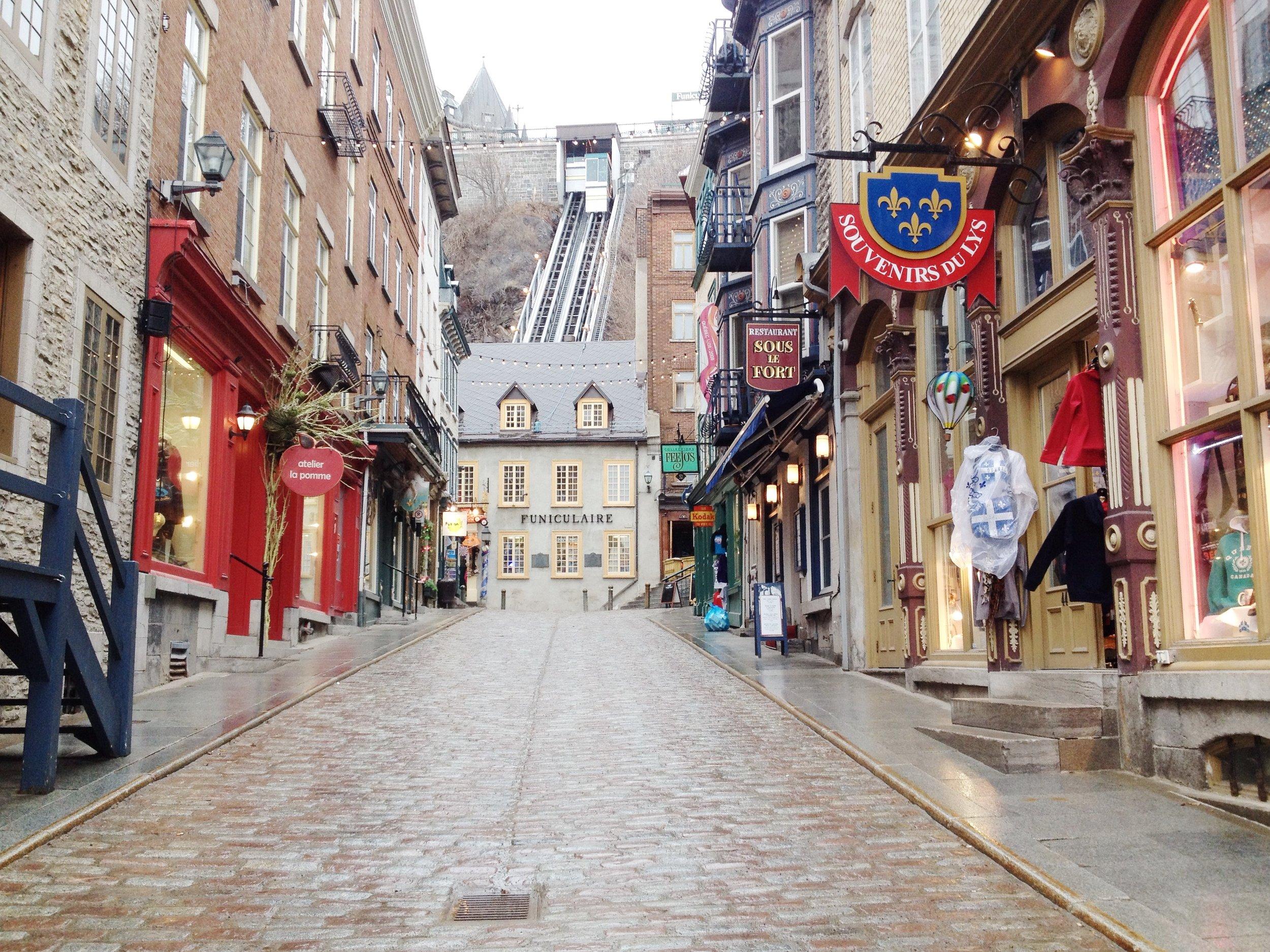 Quebec City! Rainy, but still lovely.