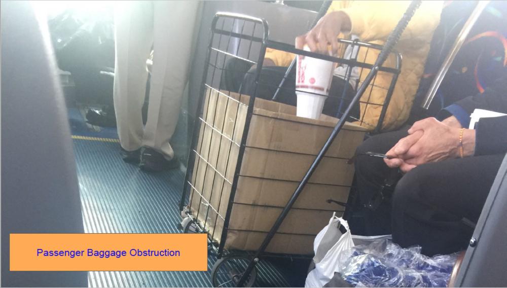 Passenger Baggage Obstruction