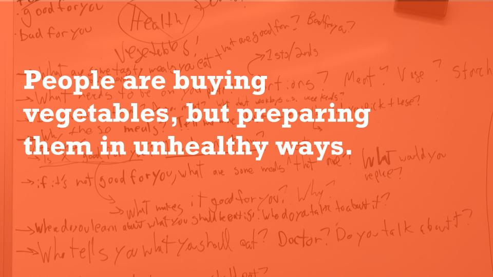 People Are Buying Vegetables, But Preparing Them In Unhealthy Ways