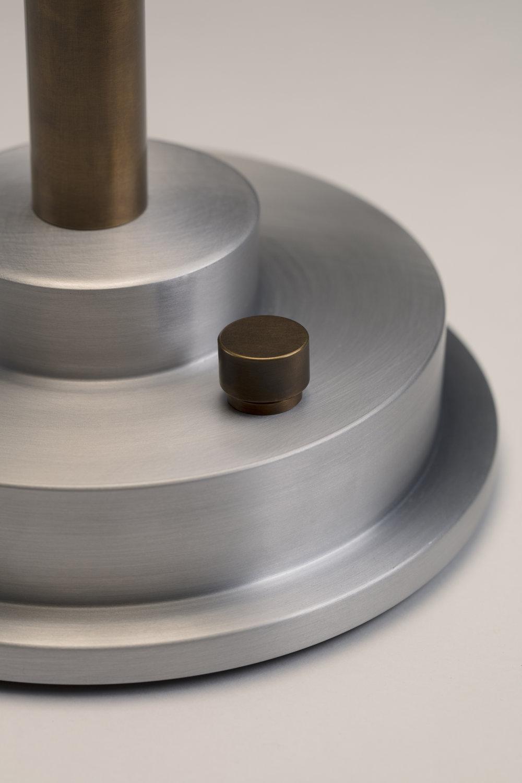 Disc Lamp Burnished Aluminum