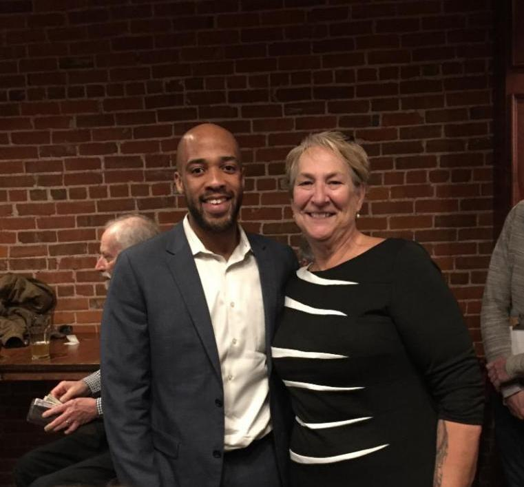 State Senator Patty Schachtner and Lt. Governor candidate, Mandela Barnes