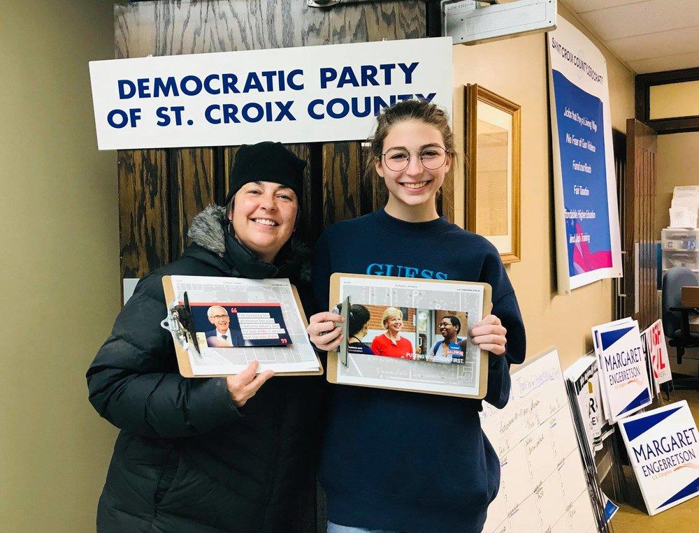 knocking doors for democrats.jpg