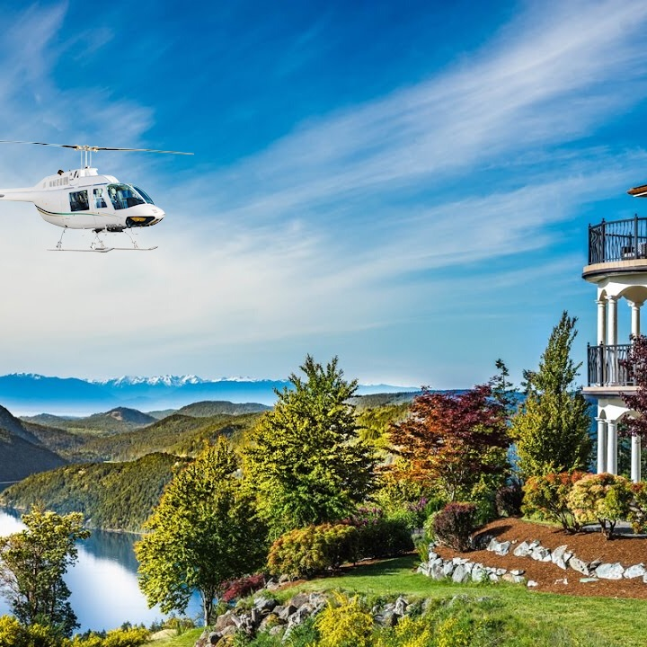 Victoria Helicopter Tour & Lunch at a Mountain Top Villa