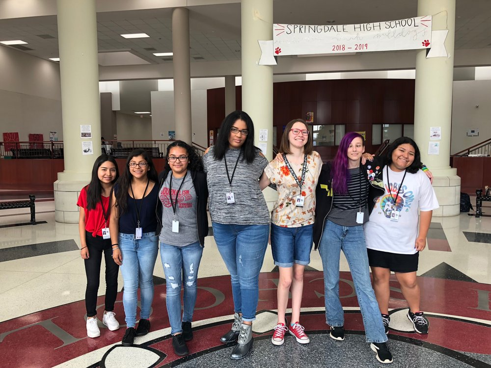 - Springdale High School, Springdale, ArkansasSHS joined All Girls Considered in Fall 2018. Led by sponsor Susannah Swearingen, this chapter represents the voices of high school students in Northwest Arkansas.