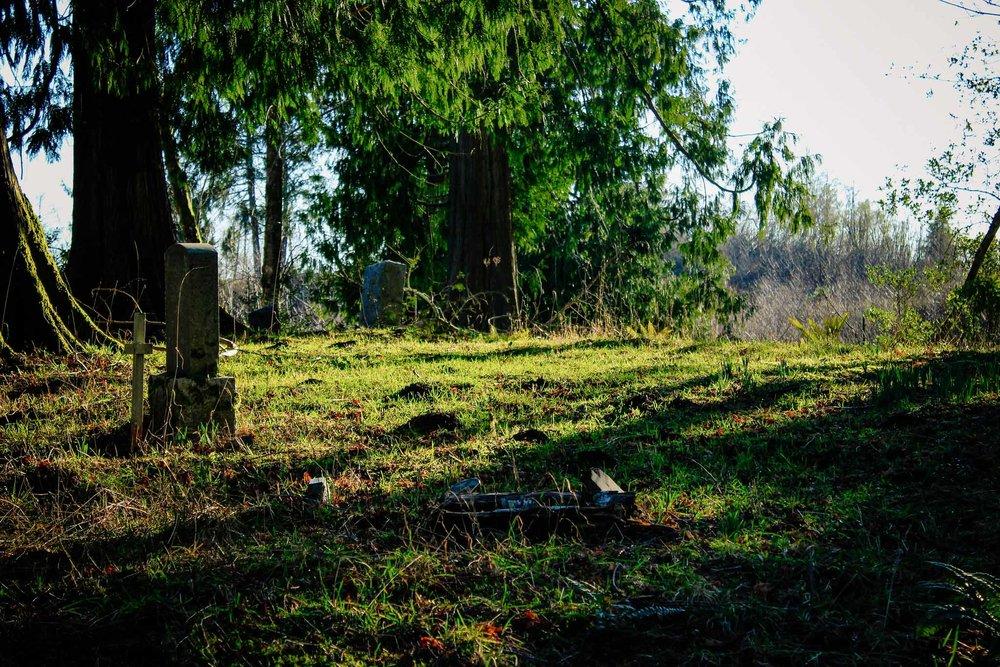 Gravesites in Riverside Cemetery