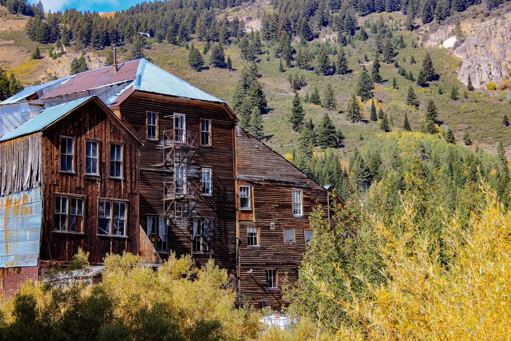The old Idaho Hotel in Silver City, ID
