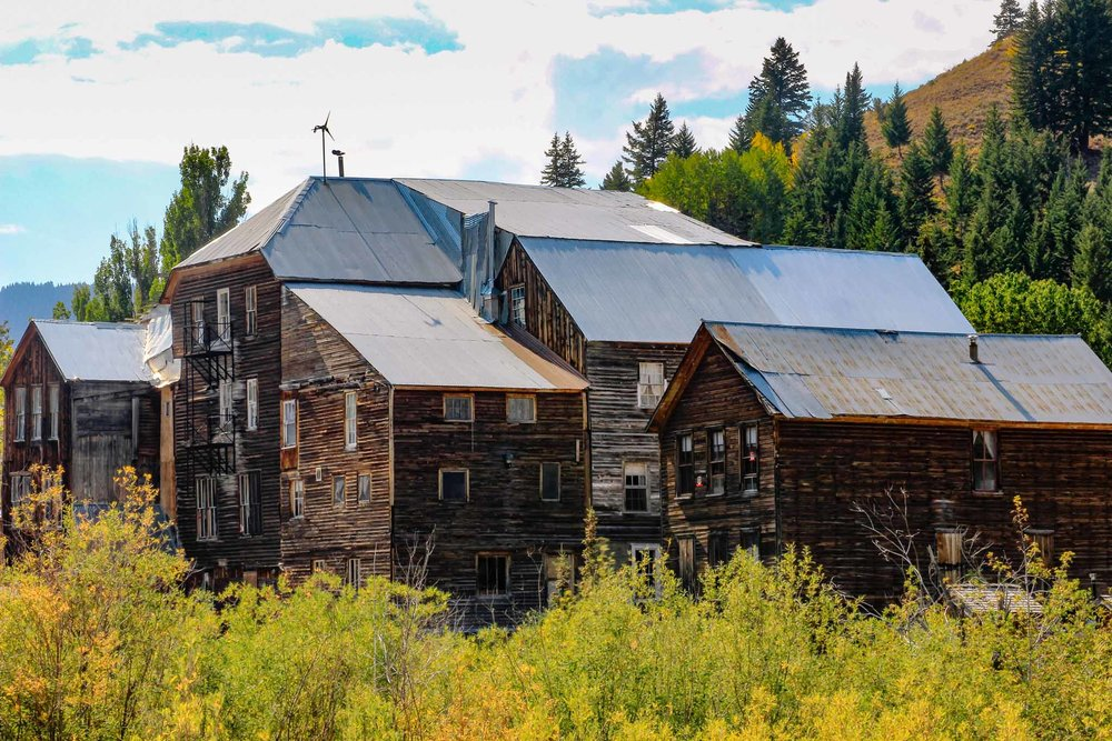 Idaho Hotel and buildings in Silver City, ID