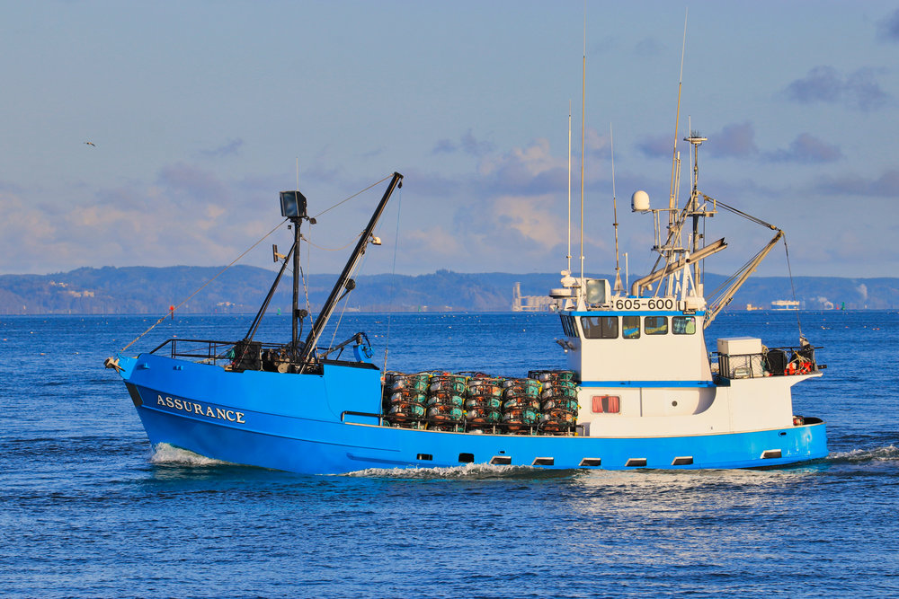 F/V Assurance headed out of Westport, WA.