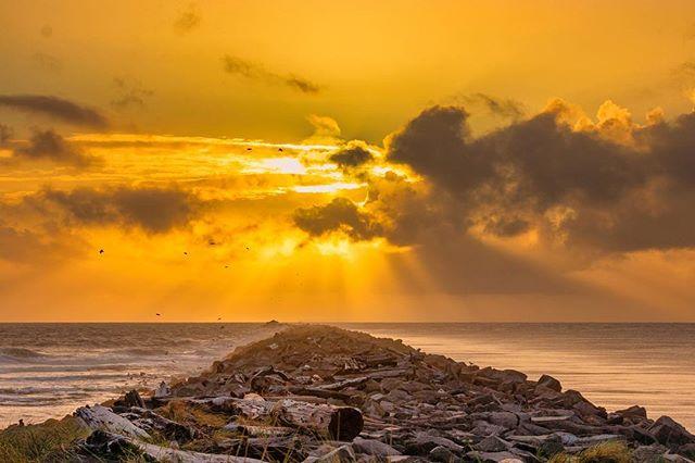 Jetty Sunset - Westport, WA I'm really going to miss views like this one tonight . . . . . #pnwphotographer #pnwlife #pnwcollective #exploretocreate #pnwonderland #pnwroamers #pacificnorthwest #washingtonexplored #washingtonstate #sunset #sunsetlover #sunset_pics #graysharborliving #discovergraysharbor #westportwa