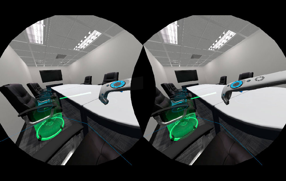 Conference Room Prototype HMD View Screenshot