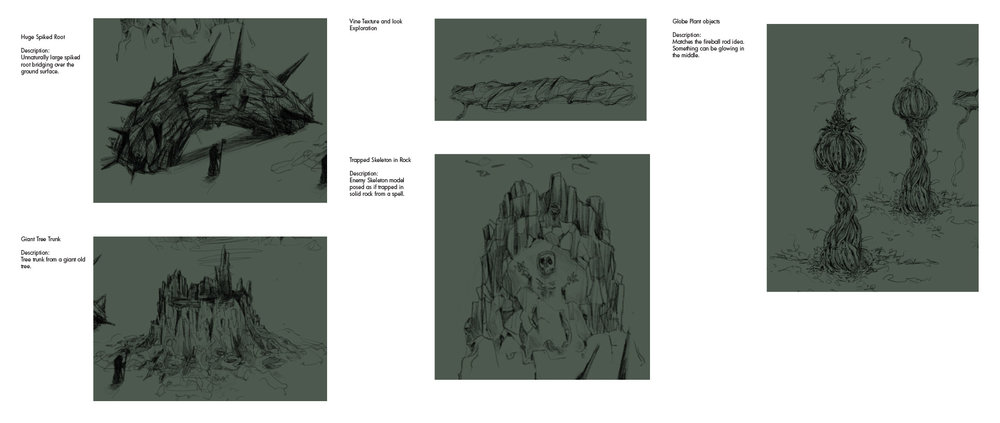 MageWorks - Initial Nature Asset Sketches