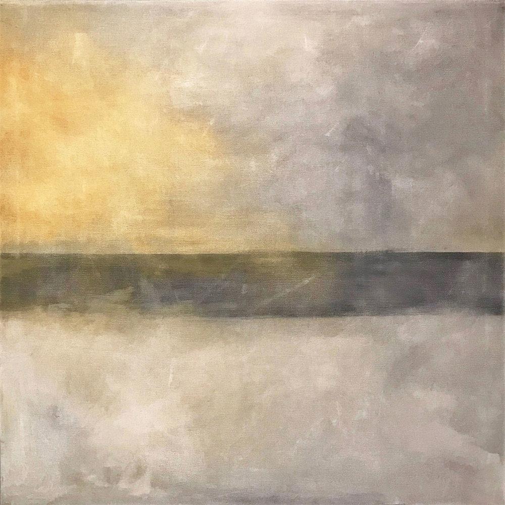 "Seascape I   2013       30"" x 30"" (76.2 x 76.2 cm) acrylic on canvas"