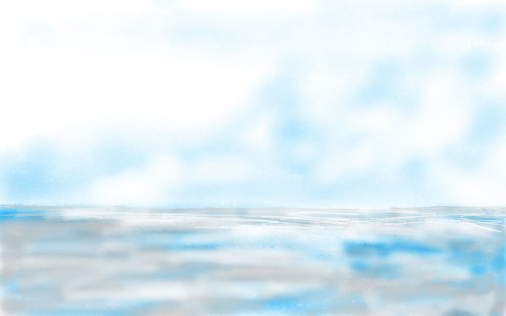 "Seascape VI   2018 15.6"" x 20.8"" (39.6 x 52.8 cm) digital painting"
