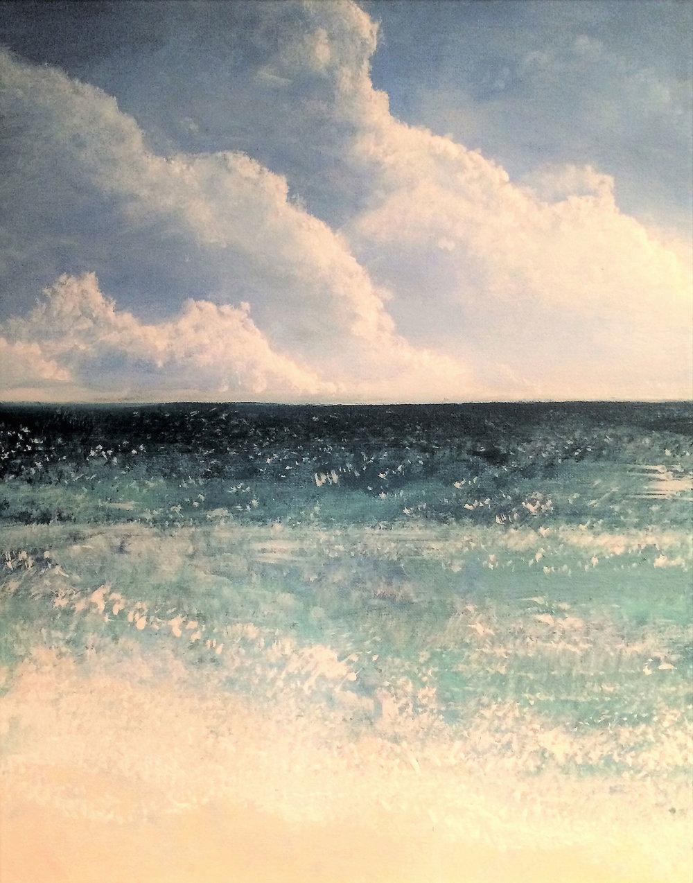 """Seascape III   2013 20"""" x 16"""" (50.8 x 40.6 cm) acrylic on canvas"""