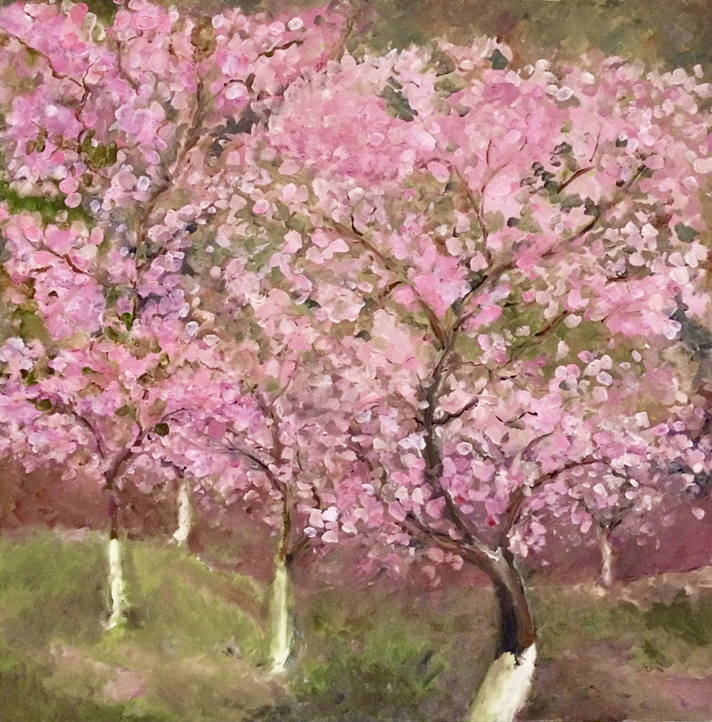 "Boston   2003  36"" x 36"" (91.4 x 91.4 cm)  oil on canvas   PRIVATE COLLECTION  🔴"