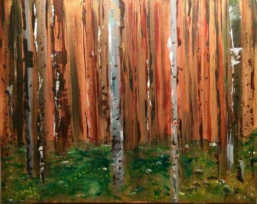 """Solitude  2013   16"""" x 20"""" (40.6 x 50.8 cm)  acrylic on canvas"""