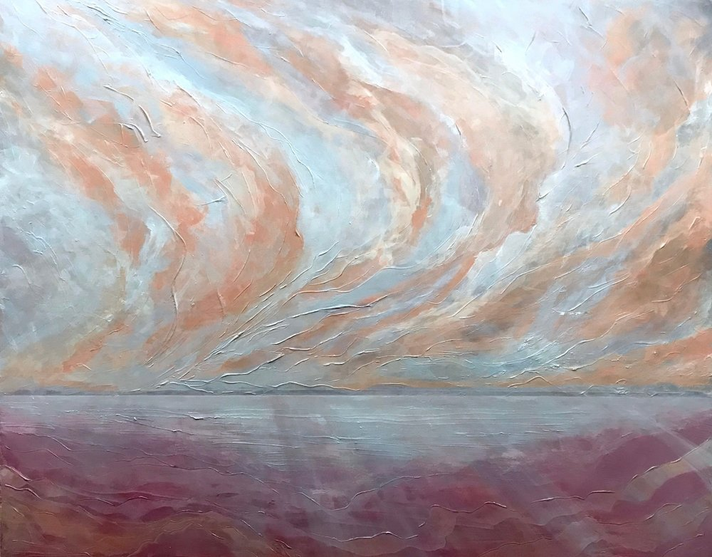 """PRIVATE COLLECTION    Seascape VII   2018 48"""" x 60"""" (121.9 x 152.4 cm) acrylic on canvas"""