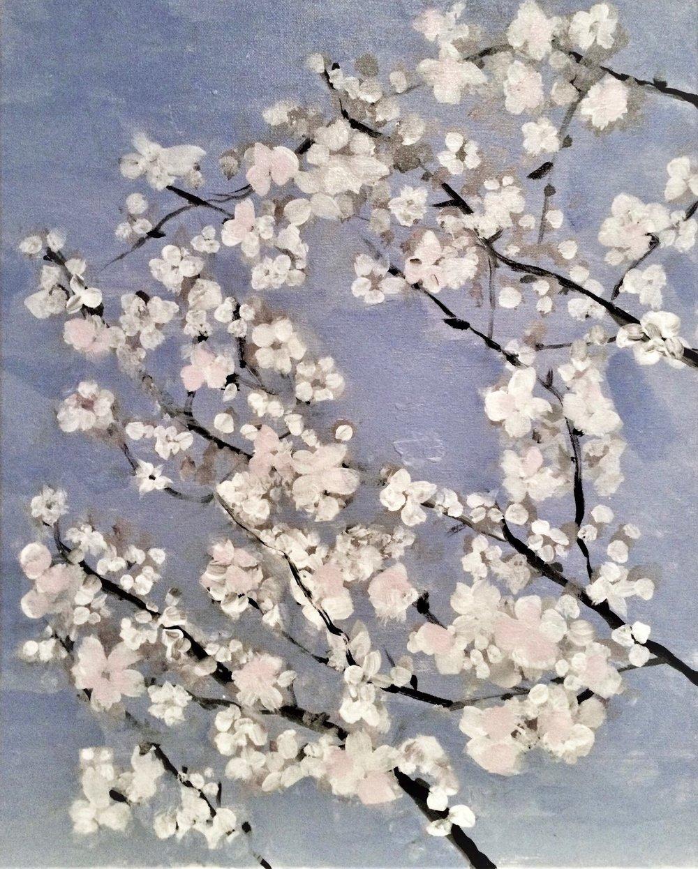 "Early Spring  2013   20"" x 16"" (50.8 x 40.6 cm)   acrylic on canvas"