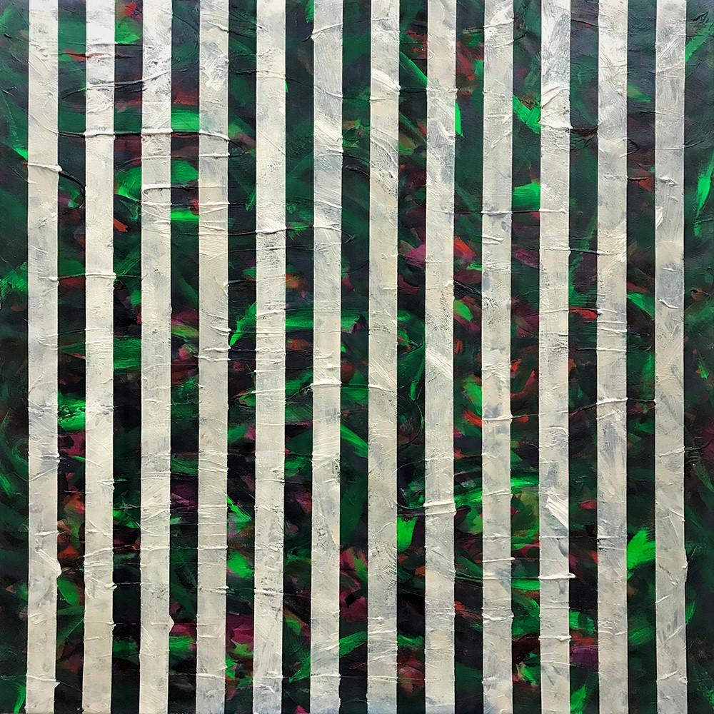 "Bamboo Forest II  2018   48"" x 48"" (121.9 x 121.9 cm)  acrylic on canvas"