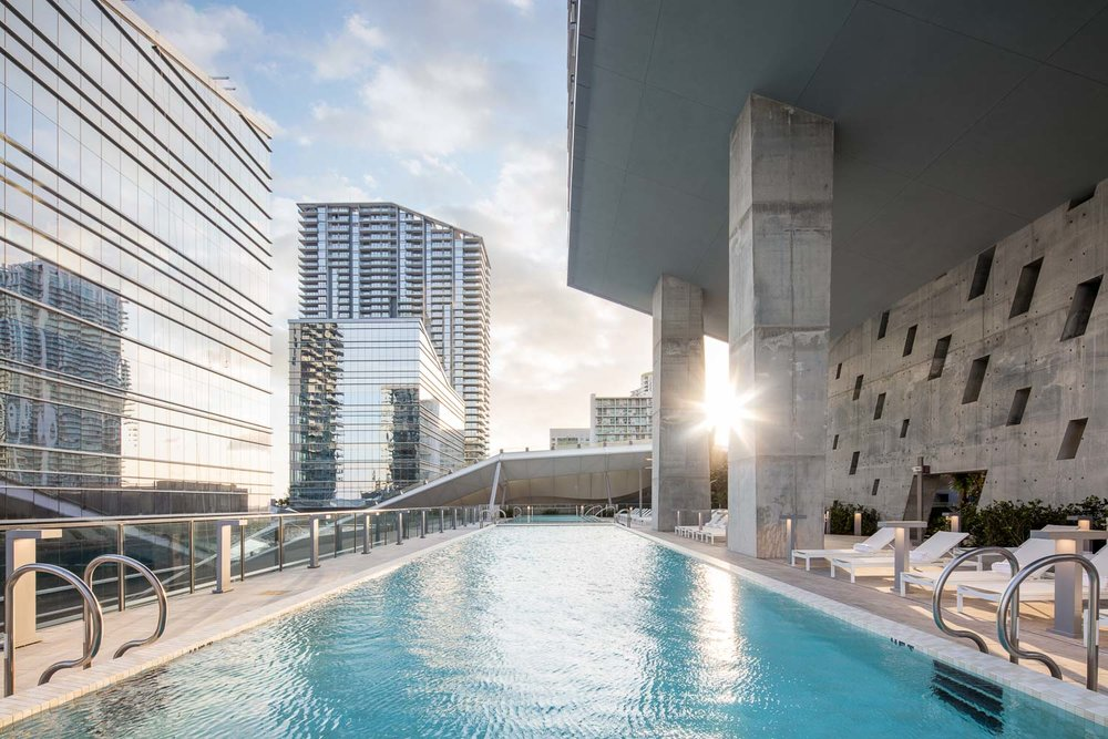 REACH also offers a rooftop pool deck with impressive views